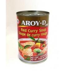 Soupe de curry rouge AROY-D 390mL