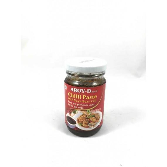 Pâte de piments avec huile de soja AROY-D 125g