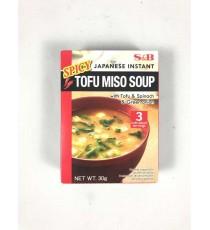 Soupe miso épicée instantanée japonaise au Tofu (en poudre) S&B 30g