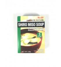 Soupe miso instantanée japonaise Shiro (en poudre) S&B 30g