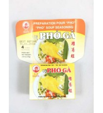 4 cubes de préparation pour soupe Pho ga COCK BRAND 75g