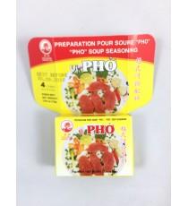 4 cubes de préparation pour soupe Pho COCK BRAND 75g