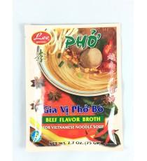 Assaisonnement pour soupe de boeuf Pho instantanée LEE BRAND 75g