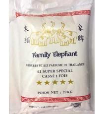 Brisures de riz parfumé cassé 1 fois FAMILY ELEPHANT 20kg