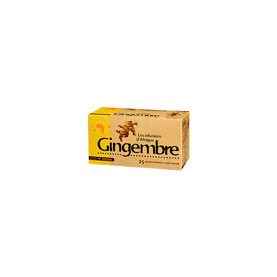 Thé Gingembre - 25 sachets x 1.6g - RACINES 40g