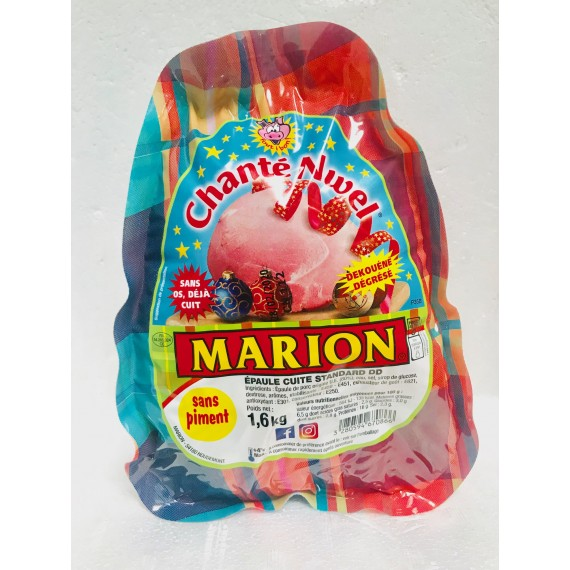Jambon épaule cuite standard chanté Nwel sans piment 1.6kg