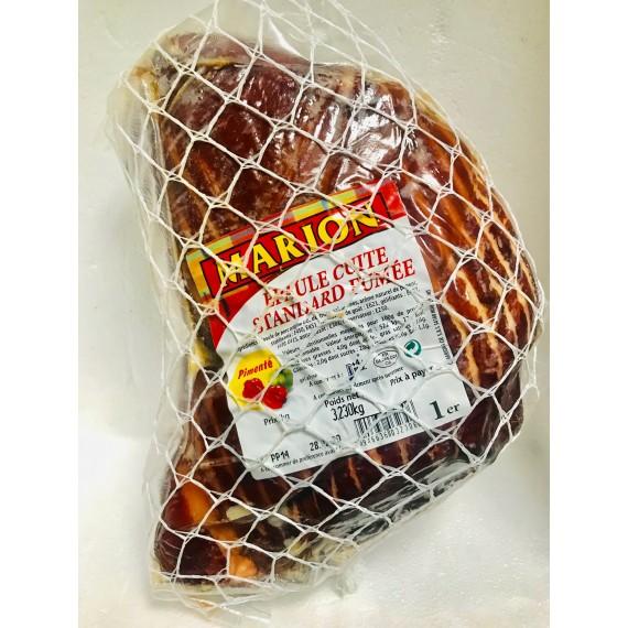 Jambon épaule cuite standard fumée avec os pimenté Marion env.3kg