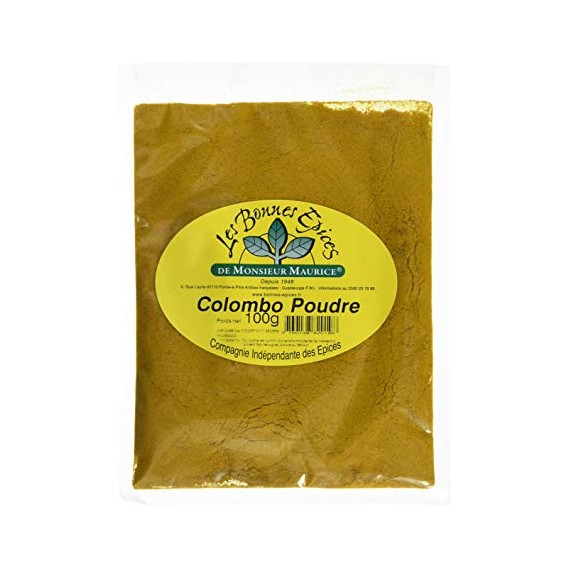 Épices Colombo Guadeloupe Maurice 100g