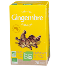 Infusion Gingembre - 20 sachets x 1.6g -  RACINES BIO 32g