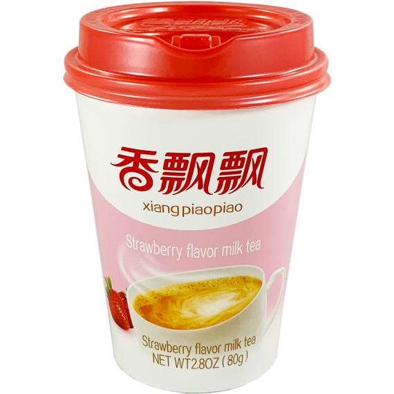 Boisson bubble tea - thé au lait saveur fraise XIANG PIAOPIAO 80G