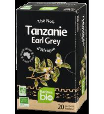 Thé noir Earl Grey TANZANIE - 20 sachets x 1.8g - RACINES BIO 36g