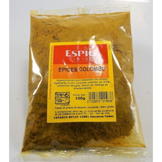 Épices Colombo en poudre - ESPIG 100g