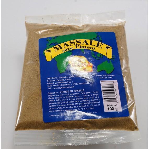 Massalé sans piment-MAISON RAMA-ROYAL BOURBON 100g